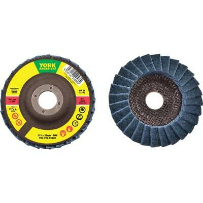 York 115X22.23MM Non Woven Flap Disc Fine- You Get 50 • 209.09£