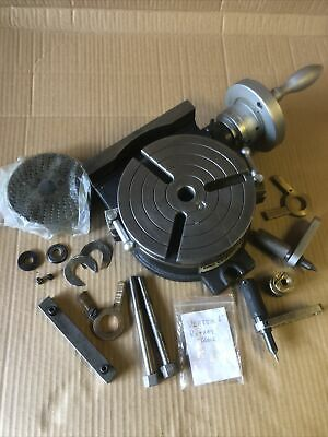 "Vertex 6"" Rotary Table With Adapter Plate All Assorted Tools • 350£"