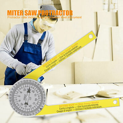 Angle Finder Ruler Miter Saw Protractor Drawing Measuring Tool Level Instruments • 6.99£