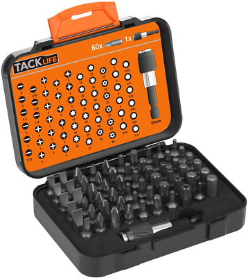 TACKLIFE 60PCS Screwdriver Bit Set,Screwdriver Drill Driver Bits Sets With Magne • 17.91£