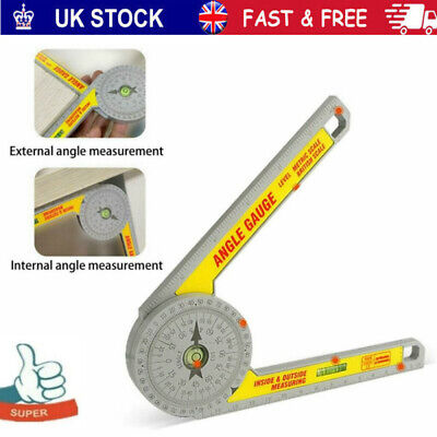 Angle Finder Miter Saw Protractor Measuring Ruler Tool Goniometer Pro Durable • 7.20£