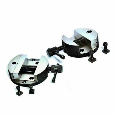 Round Vice 100 Mm Dia 105 Mm With Rotary Vice 80 Mm 3 Inch Vee Combination Of 2 • 50.99£
