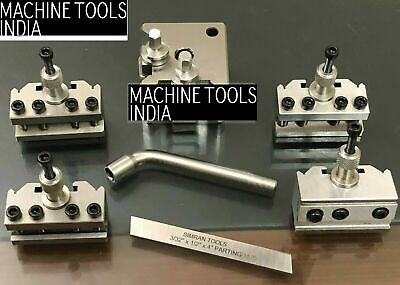 T-37 Quick Change Tool Post For Lathe 5 Pieces Set Alloy Steel With Wooden Box • 88.98£