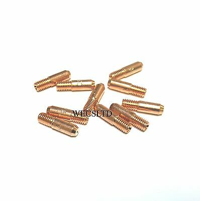 10 X Mig Welder Contact Tips, Clarke Etc Compatable Flux Cored Wire • 3.40£