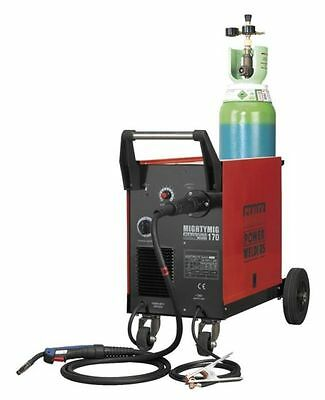 Sealey Professional Mighty Mig Welder Welding With Euro Torch Gas Gasless 170amp • 409.95£