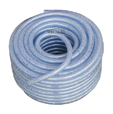 Welding Clear Braided Argon Or Co2 Hose 1/4  (6.0mm) I.D. Bore  • 14£