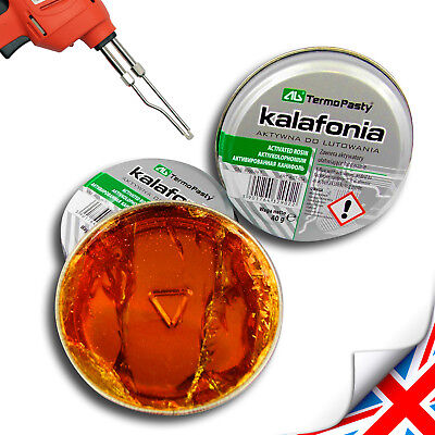 New 40g FLUX, ROSIN  For Electronics SMD  Solder Flux COLOPHONY -HIGH Purity • 2.59£