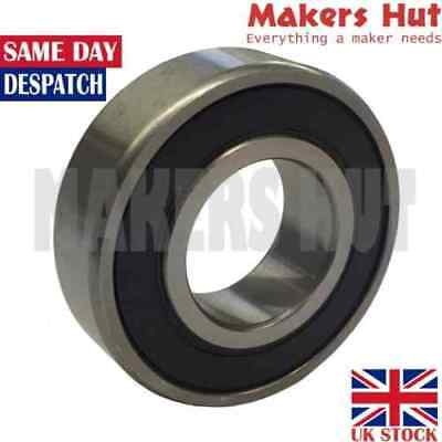 6201 2RS 12mm X 32mm X 10mm Shielded Deep Groove Ball Bearing 6201RS • 1.31£