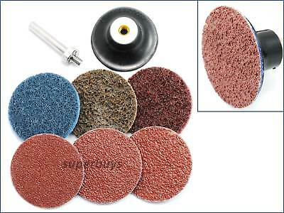 8pc 50mm Surface Preparation Sanding Sander Discs Backing Pad Rotary Drill Tool • 18.18£