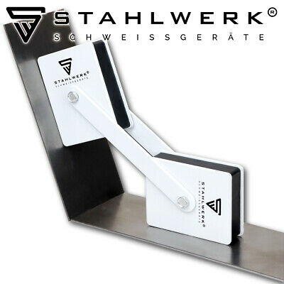 STAHLWERK Magnetic Welding Angles Holding 360° Power Up To 50 Lbs / 22,6 Kg Each • 14.99£