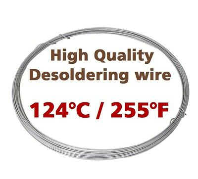 Low Melting Point 124°C/255°F Soldering Wire 1mm 1m/3.3ft Without Flux By Chemet • 4.39£