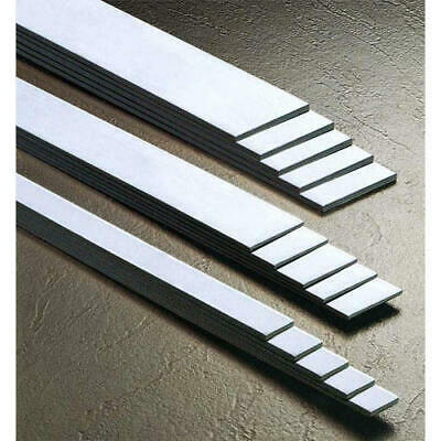 304 Grade Brushed Stainless Steel FLAT BAR - Various Sizes - 1.5mm 2mm Thick • 21.66£