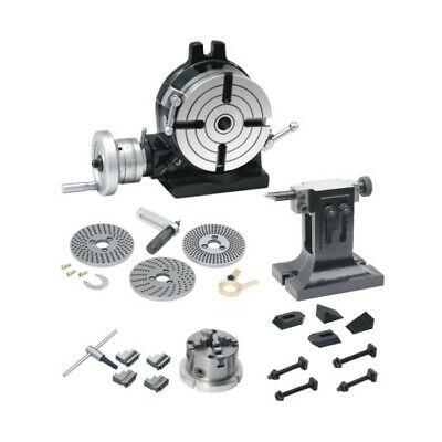 New Rotary Table 8 /200mm, Dividing Plate Set, Tail Stock,4Jaw Chuck With Clamps • 639.99£