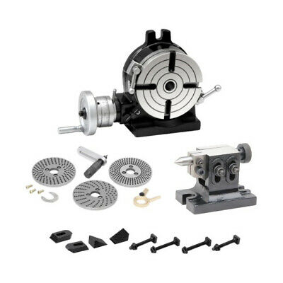 New Rotary Table 4.5/16 /110 Mm Kit Dividing Plate Set Tail Stock & Clamps • 251.99£
