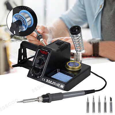 WEP 60W Soldering Iron Station Kit Variable Stand Temperature Digital LED UK New • 29.99£