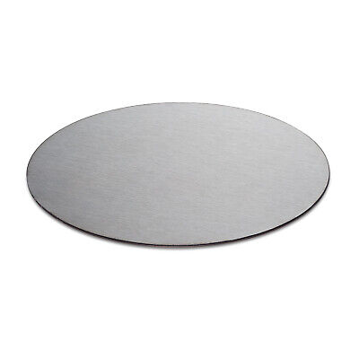 Stainless Steel 304 Brushed DP1 Satin. Laser Cut Disc/blank. 3mm Thick Circle • 2.69£