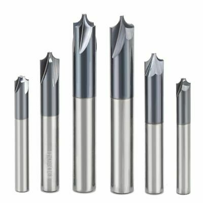 Solid Carbide Arc R Angle End Mill CNC Milling Cutter Anti Chamfering Router Bit • 27.99£