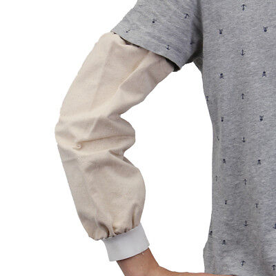 1 Pair Flame Retardant Welding Arm Leather Sleeves Protection Elastic   P *New • 8.68£