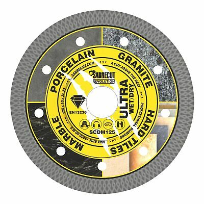 SabreCut 125mm Thin Turbo Diamond Grinder Cutting Blade Disc For Tiles 5 Inch • 9.99£
