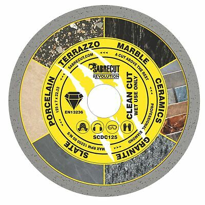 SabreCut 125mm Continuous Rim Disc Diamond Blade For Grinders And Tile Cutters • 7.99£