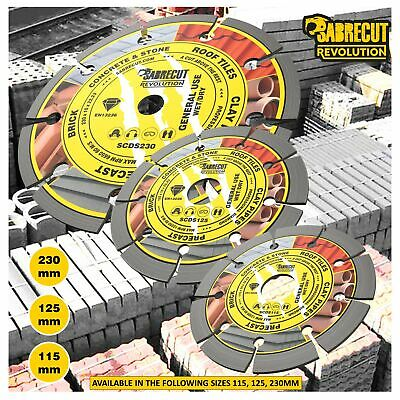 SabreCut Professional Diamond Cutting Disc Blade For Angle Grinders 115-230mm • 14.99£