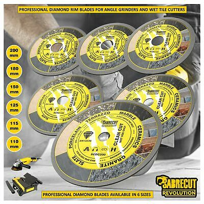 SabreCut 110mm - 230mm Diamond Circular Saw Blades For Tile Cutter And Grinders • 24.99£