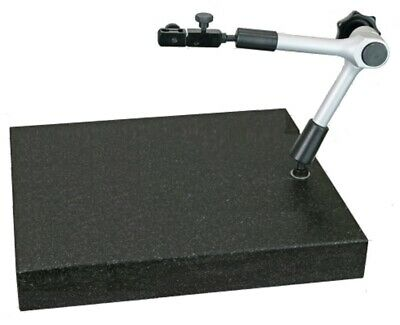 Solid Messtisch Granite Plate 300 X 200 X 50 MM + Measuring Stand Central Clamp • 102.51£