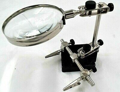 Helping Hands Magnifying Glass Magnifier Clamp Third Hand Soldering Iron HB238 • 10.95£