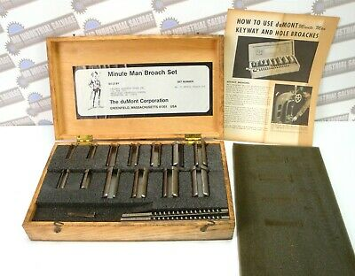 Dumont Minute Man #70 Metric KEYWAY & HOLE BROACH SET W/BOX & INSTRUCTIONS • 118.41£