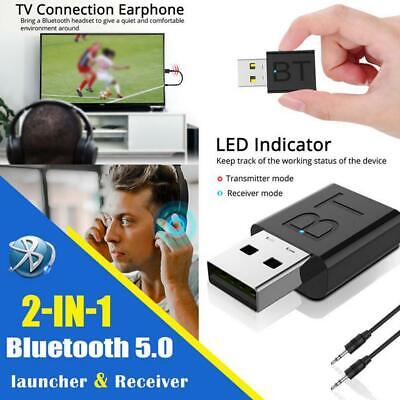 2020 5.0 Receiver Transmitter Wireless Adapter Dongle 2 In 1 USB Bluetooth Nice • 2.87£