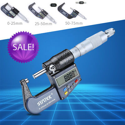 0-25/50/75mm Digital Electronic Micrometer Outside 0-1/0.00005  LCD Professional • 35£