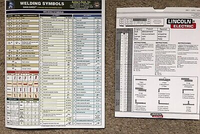 Welding Symbols Chart And Lincoln Electric TIG Calculator Bundle • 19.95£