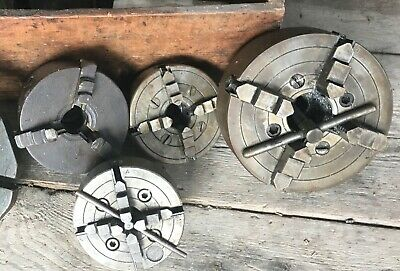 Selection Of Lathe Chucks, 1 Off 3-Jaw And 3 Off 4-Jaw • 52£