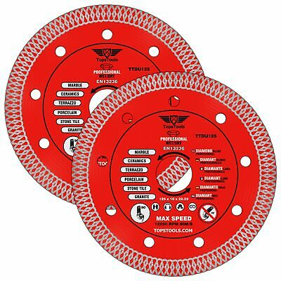 2 X Mesh Turbo Diamond Clean Thin Cutting Discs For Grinder Tiles 125mm 5  • 16.99£
