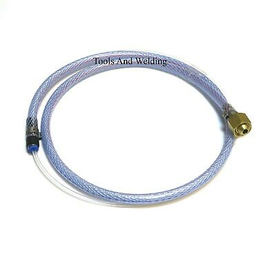 Mig Welder Gas Pipe Adaptor To Large Co2 Regulator With 3/8  BSP To 4.0mm Tubes • 9.50£
