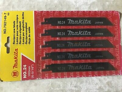Makita Recipro Metal Cutting Saw Blades No 24 (Two Packs Of 5) • 20£