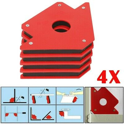 25lb Magnetic Angle Corner Holder 3  Welding Clamp Support Fix Arrow Magnet Tool • 12.99£