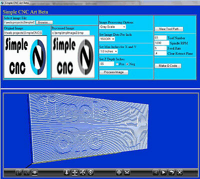 Simple Art - 3 Axis CNC Convert Pictures To G-Code • 17.89£