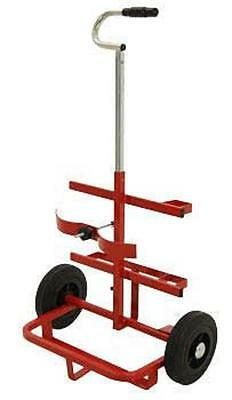 Oxy Acet Welding/cutting Twin Cylinder Gas Bottle Trolley Portable Retractable • 59.99£