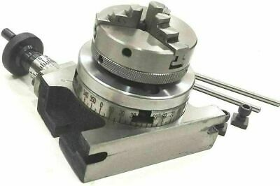 4 / 100 Rotary Table & Small Chuck & Fixing T Nut Bolts Milling Indexing Table • 106.06£
