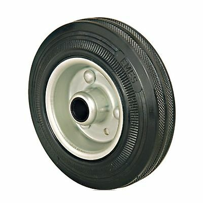 Set Of 2 - 200mm Rubber Wheels Plain Bore - Replacement Trolley Wheels • 20£