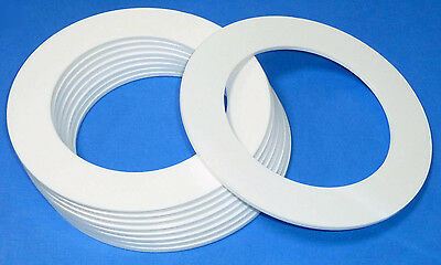 White Laser Cut Plastic Rings In 3mm Thick Acrylic Discs - Perspex • 1.50£
