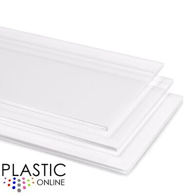 Clear Cast Acrylic Perspex Sheet Cut To Size Panels Plastic Material • 8.31£