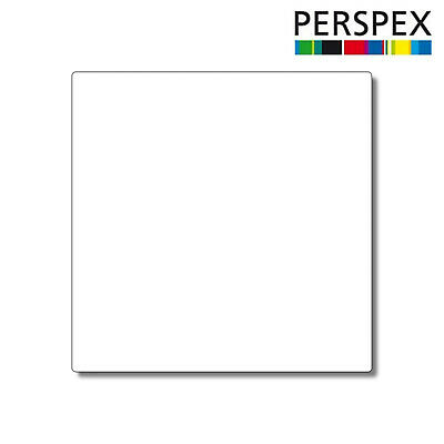 White Laser Cut Plastic Squares 3mm Thick Acrylic - Perspex • 11.10£