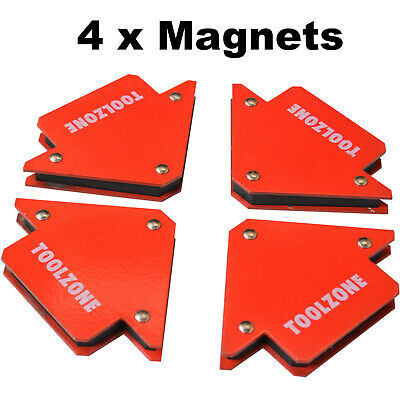 4 X Powerful 25lb Magnetic Welding Holders 3 Angle • 119.99£