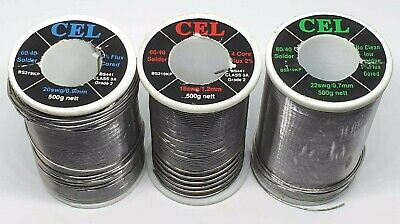 Solder Wire - Cel Brand - Fluxed Core - Hobbyists Electronics Electric Soldering • 6.99£