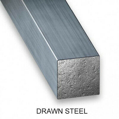 Solid Steel Square Bar (Drawn Steel & Hot Rolled Steel) - Various Sizes • 6.29£
