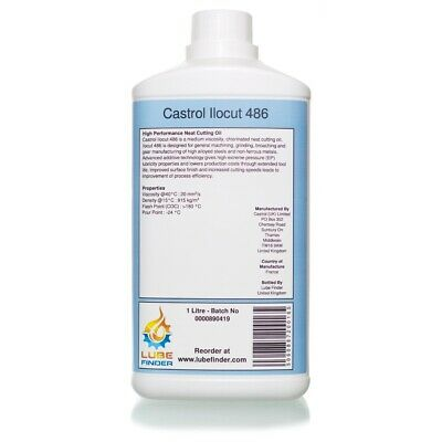 1L Castrol Ilocut 486 Neat Cutting Oil • 19.08£