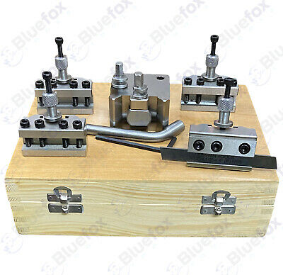 5 Pieces Set T37 Quick-Change Toolpost Myford ML7 Wooden Box • 83.10£