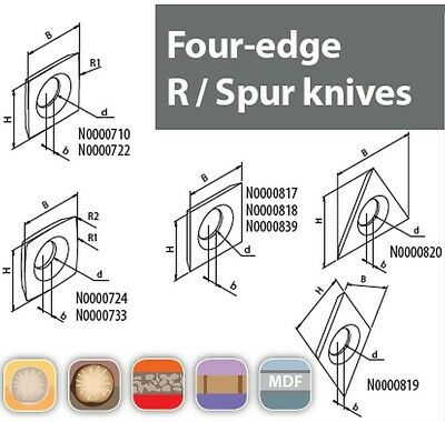 Genuine High Quality Four-edge R / Spur Knives  • 40.62£